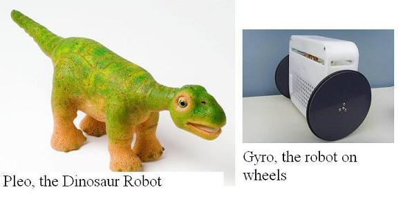 Pleo and Gyro Robots