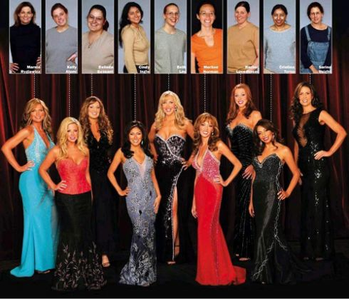 The contestants who made it to the beauty pageant in the first season.