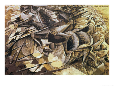 The Charge of the Lancers by Umberto Boccioni (1915)